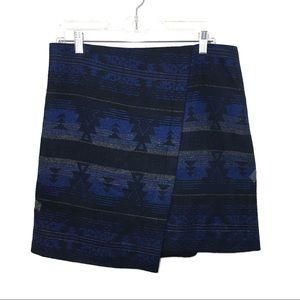 Artisan NY Aztec Print Asymmetrical Mini Skirt 8